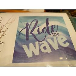 Ride the waves  Adhesive Wall Art Plaque Decal Decor re-positionable new