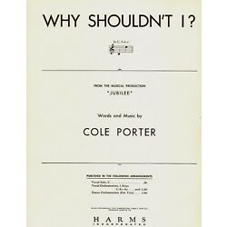Kyпить COLE PORTER Sheet Music WHY SHOULDN'T I? / JUBILEE 1935 Piano Vocal на еВаy.соm