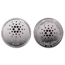 Kyпить 1.2 oz Physical Cardano ADA Iron Coin Token Round Chip Crypto Silver Color 44mm на еВаy.соm