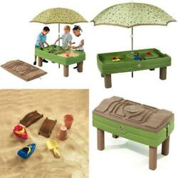 Step2 Naturally Playful Sand and Water Activity Table with 7 Piece Accessory New