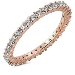 espere CZ Paved Stackable Eternity Ring
