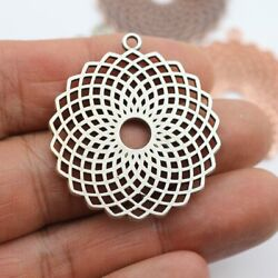 Pendant Torus Yantra Antique Silver Charms DIY Pewter Jewelry Making Supply 5Pcs