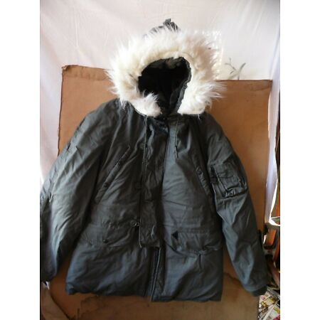 img-GENUINE U.S ARMY ISSUE EXTREME COLD WEATHER PARKA TYPE N3B PARKA ~ MEDIUM