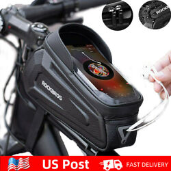 "Kyпить ROCKBROS Cycling Front Top Tube Frame Bag Waterproof Bike Phone Holder Case 6.8"" на еВаy.соm"