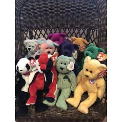 Kyпить Ty Beanie Baby Lot Of 10 Bears Some Rare In Mint Condition. на еВаy.соm