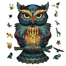 Kyпить A4 Wooden Jigsaw Puzzles Unique Owl Shape Jigsaw Pieces Adult Kid Toy Home Decor на еВаy.соm