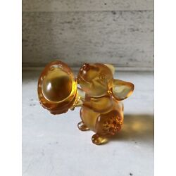 Kyпить Liuli Gongfang Signed & Numbered Orange Amber Crystal Glass Rat Mouse Figure на еВаy.соm