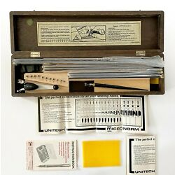 Kyпить Vintage Unitech Drafting Lettering Set 6675-551-0786 in original Wooden Box  на еВаy.соm