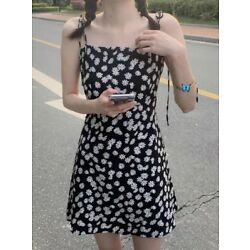 Cute Daisy Dress Black And White Spring And Summer Dress