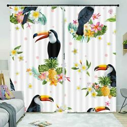 Wing Feather Leaves 3D Curtain Blockout Photo Printing Curtains Drape Fabric