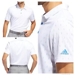 Kyпить New With Tags! Adidas Golf Men's Ultimate Indigo Dye Print Polo Shirt - Royal  на еВаy.соm
