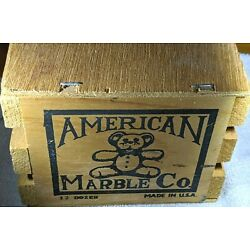 Kyпить American Marble Company Wood Crate of 144 Marbles-Mint на еВаy.соm