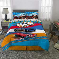 Kyпить Hot Wheels Bed Bag Kids Bedding Set Fast Pace Soft Microfiber Twin Full Size nEW на еВаy.соm