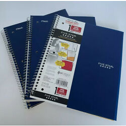 Kyпить Five Star Spiral Notebook, 1 Subject, Wide Ruled Paper, 100 Sheets, Set 3 Blue. на еВаy.соm