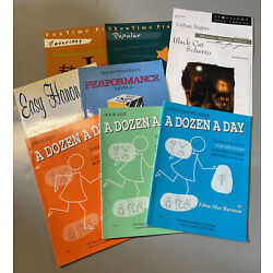 Kyпить Lot of 7 Learning/Beginners Piano Books +2 Songs, Dozen a Day, Easy Hanon, Basic на еВаy.соm