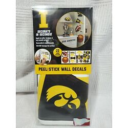 Peel And Stick Wall Decals 24 Iowa Hawkeyes Removable Decals NCAA Dorm Bedroom