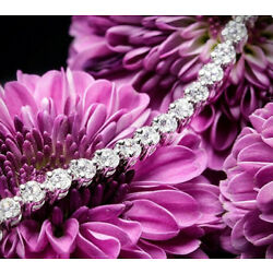 Kyпить Diamond Tennis Bracelet 5.50 Carat Certified Round Cut H/SI 14K White Gold на еВаy.соm