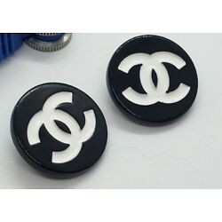 Kyпить 1 Chanel black and white stamped button, 20 mm, high quality button на еВаy.соm
