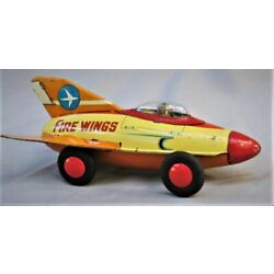 Kyпить Vintage 1950's  Tin Friction Rocket -- Fire Wings -  Made in Japan на еВаy.соm