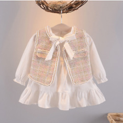 Baby suit 1-5 years old female baby vest dress little princess two-piece
