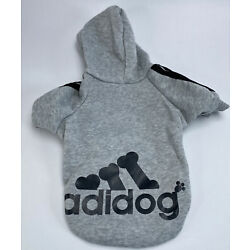 Gray Hoodie For Dog By Adidog Size M