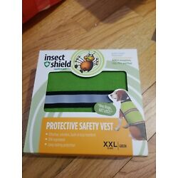 Insect Shield Protective Safety Vest w/ Built-In Bug Repellent F Dog XXL green