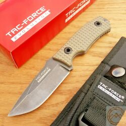 Tac Force Fixed Knife 3.75'' 8Cr13MoV Steel Full Tang Drop Point Blade G10 Handle