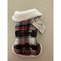 Bee & Willow Pet Plaid Sherpa-Lined Coat X-Small