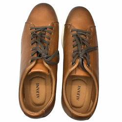 Alfani Mens Benny Sneaker Shoes Brown 10007184800 Lace Up Low Top 10.5M New