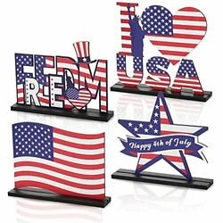 Kyпить Independence Day Table Decoration Patriotic Wooden Table Centerpiece 4th of  на еВаy.соm