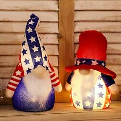 Kyпить  Patriotic Gnome Light up 9 Inches Set of 2 Stars and Stripes Nisse Red & White на еВаy.соm