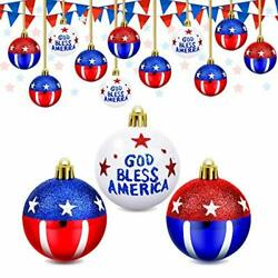 Kyпить 24 Pieces 4th of July Hanging Ball Ornaments Stars and Stripes Hanging Ball  на еВаy.соm