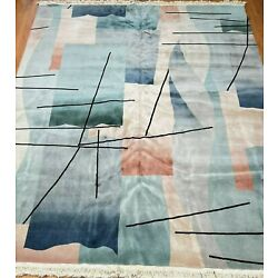 Kyпить EXCELLENT CHINESE MODERN HAND KNOTTED WOOL COLORFUL ORIENTALL RUG CLEANED 9x12 на еВаy.соm