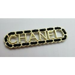 1 Chanel black Leather-Like  flat button, view photos, 72 mm