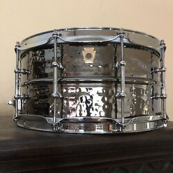 Kyпить Ludwig Drums USA 6.5 x 14 Hammered Black Beauty Brass Snare Drum Tube Lugs @Mint на еВаy.соm