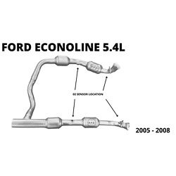 Catalytic Converters for 2005 2006 Ford Econoline 5.4L