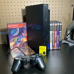 Sony PlayStation 2 (SCPH-39001) with games, memory card, wires, & controller
