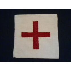 Lusso Red Cross Pillow Cover - Wool Blend 20'' x 20'' - Brand New - 3 Available