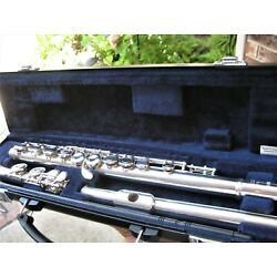 Clean/Fully Adjusted Yamaha Silver Plated Flute YFL221 100% Pos Fdbck!