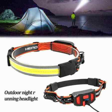 img-Outdoor Night Runner Headlights 1200MA USB Rechargeable Built-in Battery