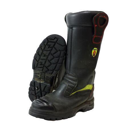 img-YDS Firefighter Fire rescue Leather Boots Jolly Crosstech Fire Good Condition