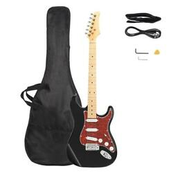 New Burning Fire Style Pearl-shaped 22 Frets Electric Guitar Black & Red