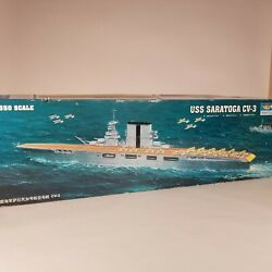 Trumpeter 1/350 Scale USS Saratoga CV-3 Aircraft Carrier Model Kit - Started