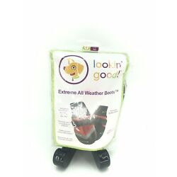 Fashion Pet Lookin'good Extreme All Weather Waterproof Dog Boots Size medium