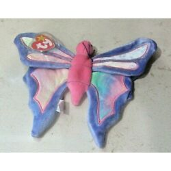 Ty Beanie Baby Flitter the Butterfly DOB June 2, 1999 MWMT Free Shipping