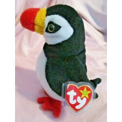 Ty Beanie Baby Puffer the Puffin  DOB November 3, 1997 MWMT Free Shipping