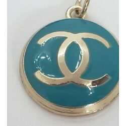 1 Chanel teal zip pull, 20 mm