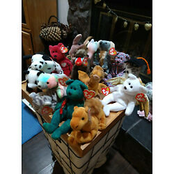 LOT OF VINTAGE BEANIE BABIES ALL WITH TAGS