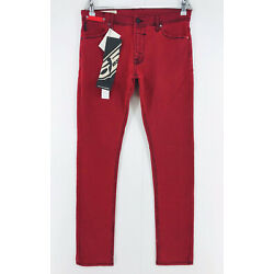 FIFTYFIVEDSL PYRONS Red Ultra Slim Fit Jeans W30