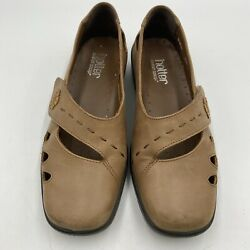 Hotter Bliss Leather Comfort Concept Mary Jane Strap Shoes Women s Size 7 Brown